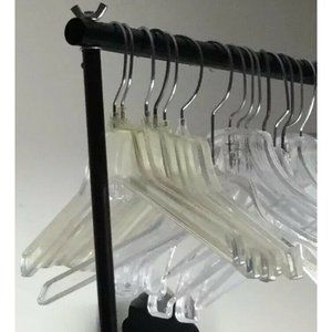 """Lot of 54 17"""" Heavy Duty Clothes Hangers for Home,"""
